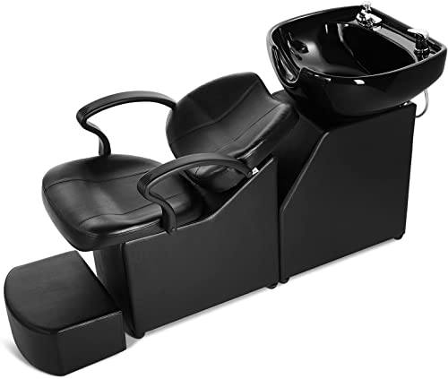 wholesale Artist Hand Shampoo Barber Backwash Chair, Ceramic Shampoo Bowl Sink online Chair, with Foot Pedal for Spa popular Beauty Salon sale