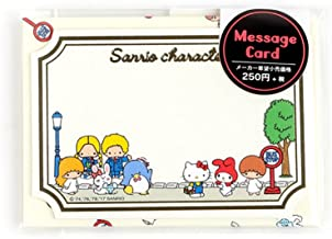 Sanrio Character Mini Message Set with Sticker Seal Hello Kitty-My Melody-Cinnamoroll-Pompompurin-Little Twin Star-Patty & Jimmy ((1 Set/Package per Order))