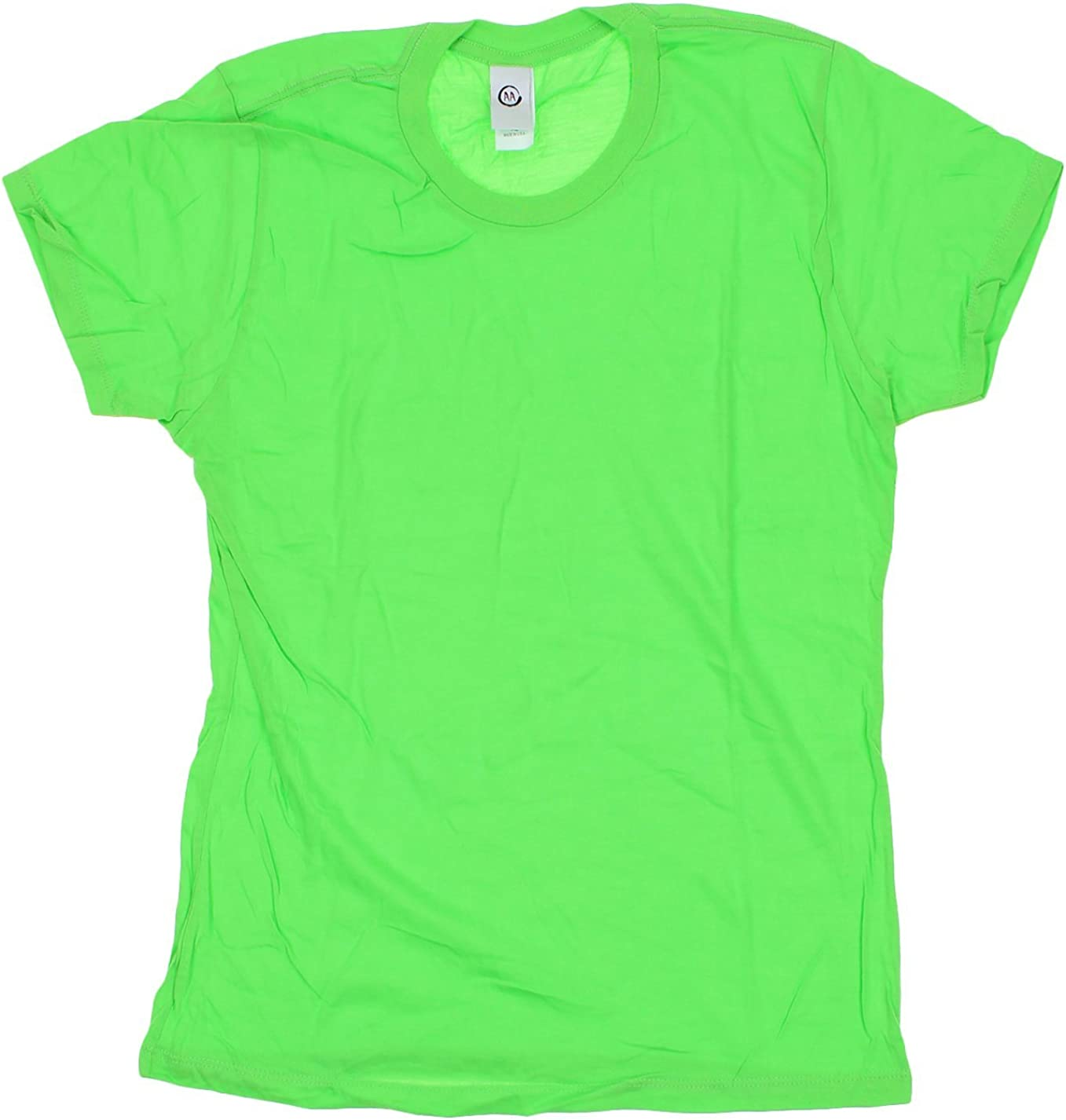 Active Apparel Inc Womens Basic Short Sleeve Tee (XL), Bright Green