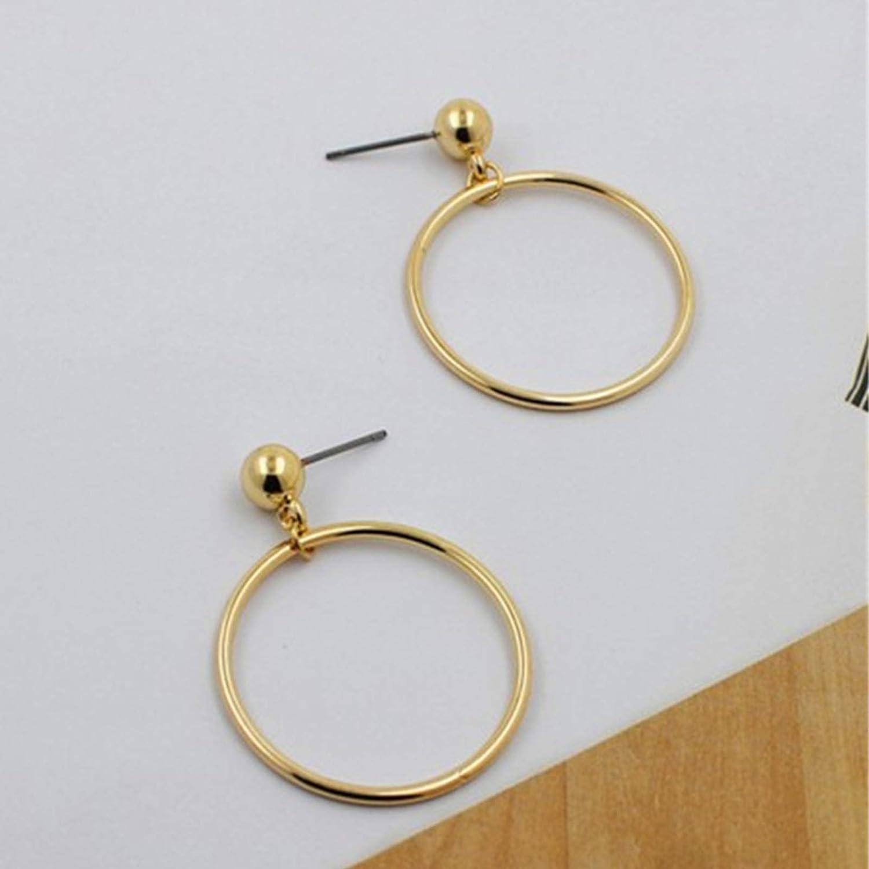 TseenYi Pendientes redondos de karma huecos redondos y minimalistas para mujeres y ni/ñas