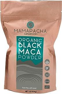 Organic Black Maca Powder Raw 1LB (454g) - 100% Premium Peruvian Raw Black Maca Root USDA Certified - Vegan and Gluten Fre...