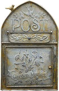 ZYLE صندوق بريد حديد مشترك على الحائط، صندوق رسالة، صندوق البريد الوارد في الهواء الطلق، 40x25.5x10cm