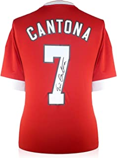 Eric Cantona Signed Manchester United Soccer Jersey | Autographed Memorabilia