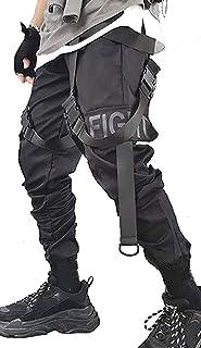 Men's Jogger Pants Punk Cargo Baggy Techwear Hip Hop Harem Pants Streetwear Tactical Track Pants