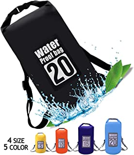 QiYue Waterproof Dry Bag Backpack Small Large 5L/10L/15L/20L/25L Double Shoulder Straps Roll Top Floating Dry Pack Sack fo...