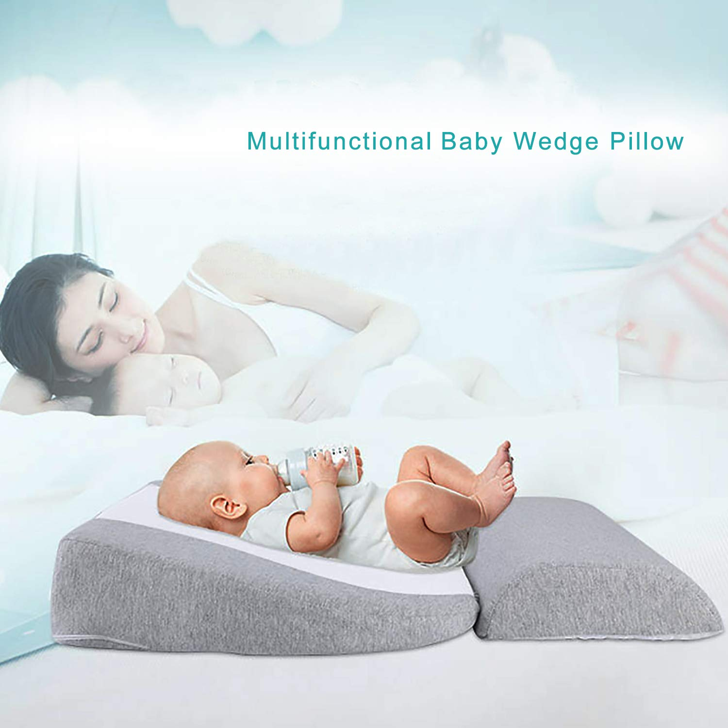 Newzealkids Baby Wedge Pillow, Infant Wedge for Crib