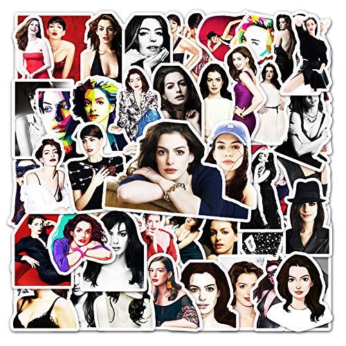 Star Anne Hathaway Graffiti Sticker Maleta Laptop Car Scooter Pegatinas Decorativas 50 Hojas