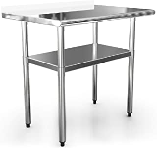 NSF Work Table Kitchen 36x24 Inches Commercial Prep Table Workbench Industrial Restaurant Supply,Stainless Steel Work Tables for Shop Home Outdoor Worktable Worktops Food Preparation 1 1/2
