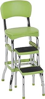 Cosco Green Retro Counter Chair / Step Stool (Renewed)