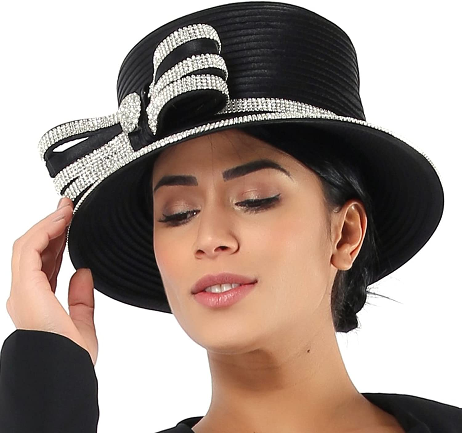 Kueeni Women Church Suits with Hats Special or Noteworthy Event, Ceremony, or Celebration for Ladies Clothes Black