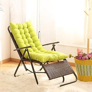155x48cm Cuscino per sedia a sdraio senza sedia Cuscino per sedia a dondolo Cuscino per lettino Tappetino da giardino Poltrona reclinabile Cuscino per materasso per sedia a dondolo pieghevole spessa