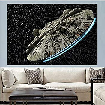 New 5D DIY Diamond Painting Cross Stitch Full Square/Round Diamond Embroidery Star Wars Spaceship Picture for Room Decor 65x40cmRounddrill