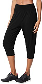 Marks & Spencer Women's Quick Dry Cropped Yoga Joggers, Black