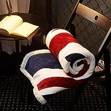 Bedding Outlet Super Soft Cozy Velvet Plush Throw Blanket British Flag/American Flag Art Sherpa Blanket for Couch Throw Tr...