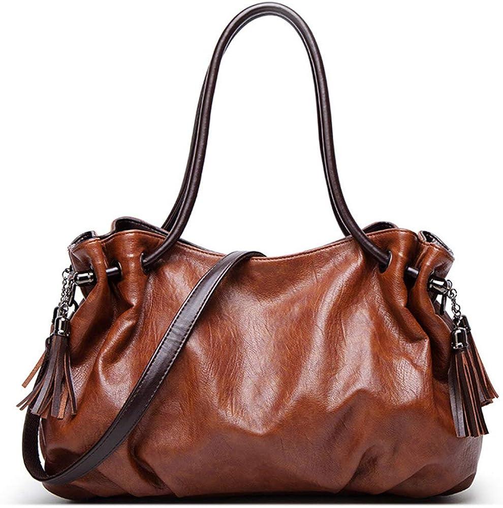 MINTEGRA Handbags for Women Hobo Shoulder Bags with Tassel Large Capacity Top Handle Bucket Bags