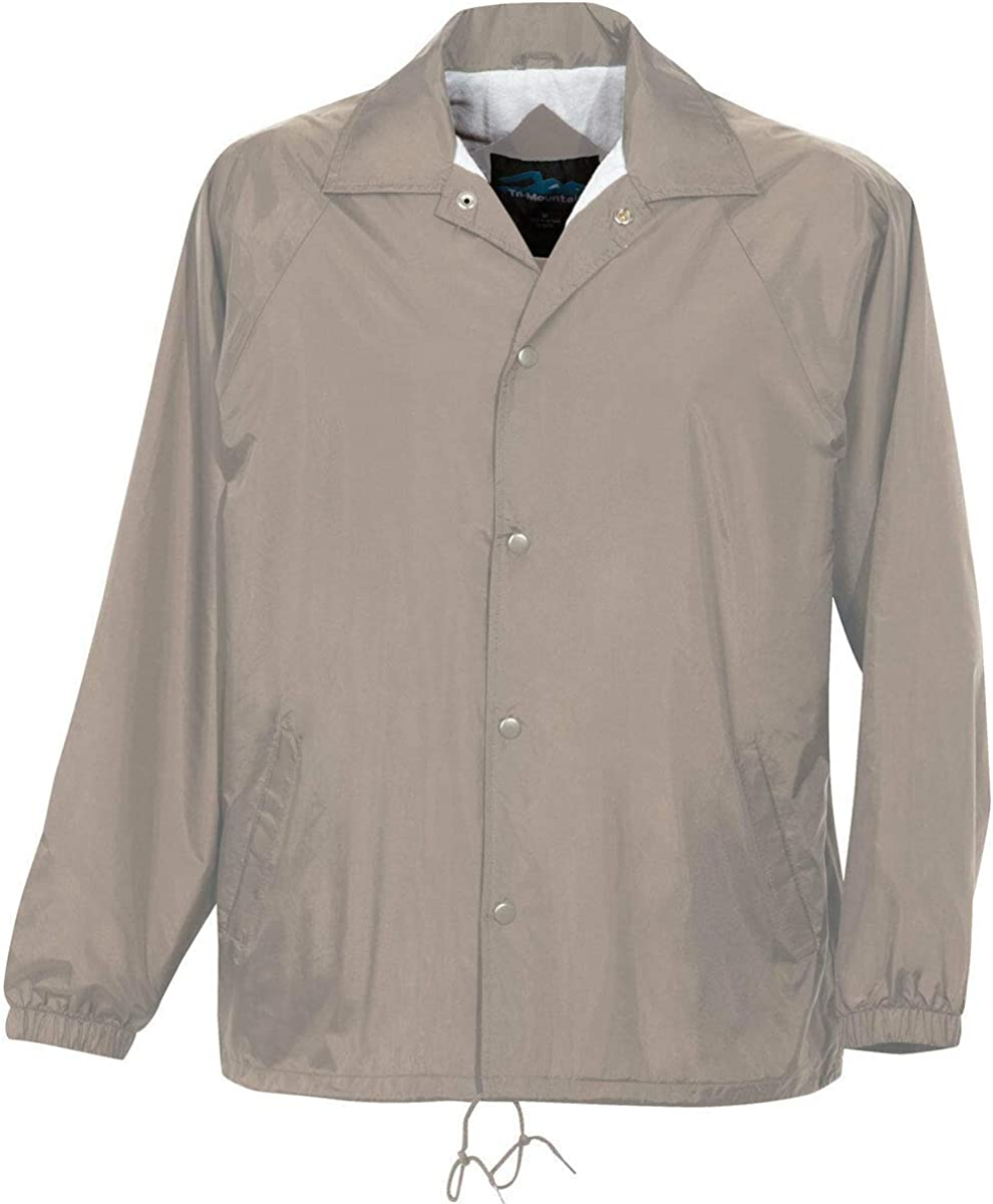Khaki Color - 6 Sizes - Coach Jacket Men's Big and Tall Flannel Lining