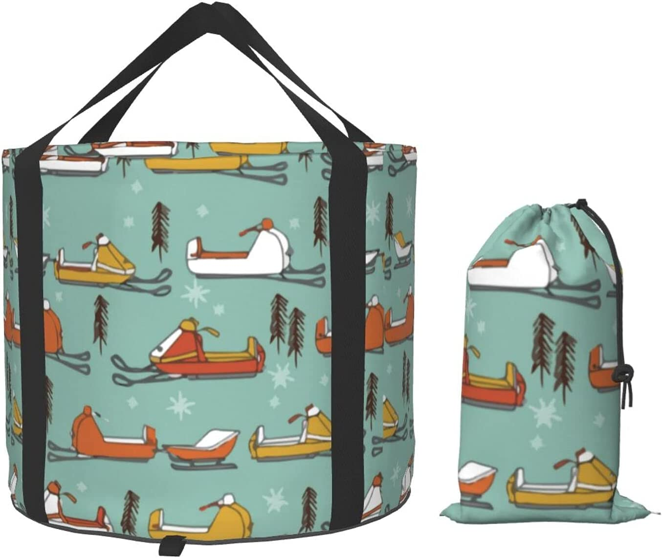 Multifunctional Portable Collapsible Bucket Vintage Snowmobiles Sales of SALE items from new works Outlet sale feature