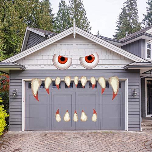 YEESEN Halloween Monster Face Decorations, Outdoor Garage Archway Door Window Car Halloween Party Decoration