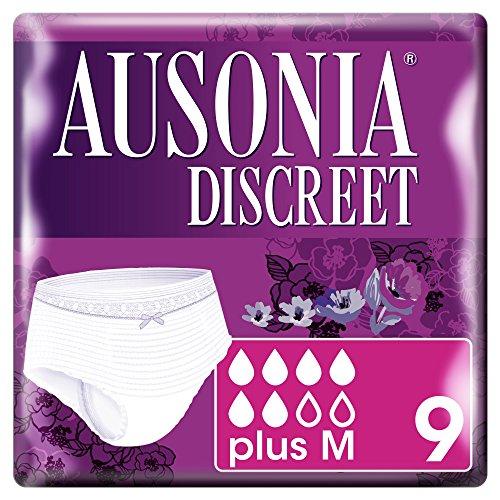 Ausonia Discreet Normal M - Braguitas-Pants, paquete de 9 unidades