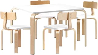 Keezi Nordic Kids Table Chair Set Desk 5PC Activity Dining Study Children Modern