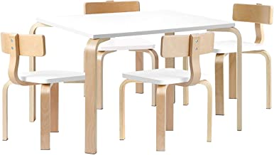 Keezi Kids Table and Chairs Set Children Toddler Study Dining Desk Wooden Furniture