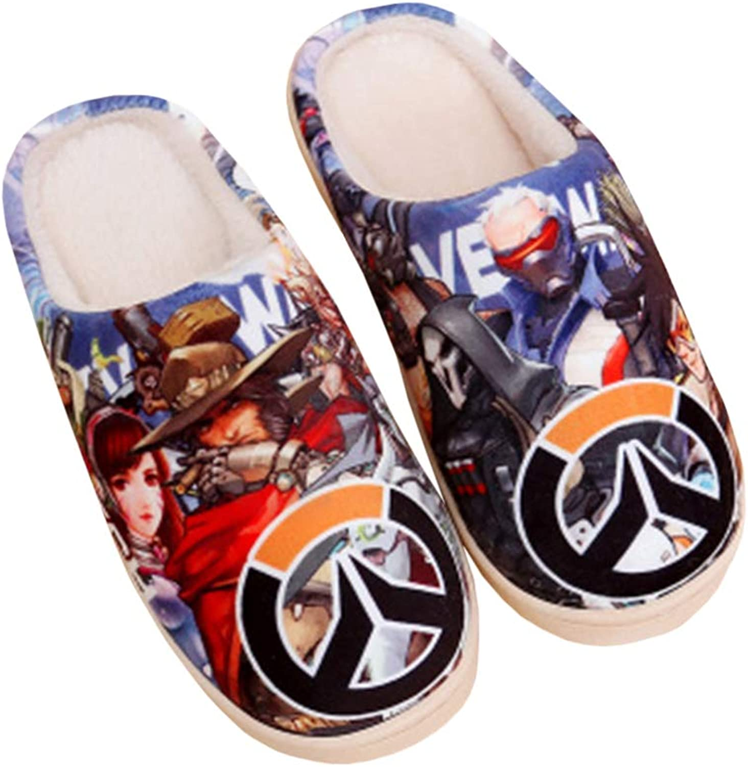 Cotton Slippers Cartoon Anime Printing Cute Plush Thicken shoes Warm Unisex Home Winter Anti-Slip Can Washable Slipper
