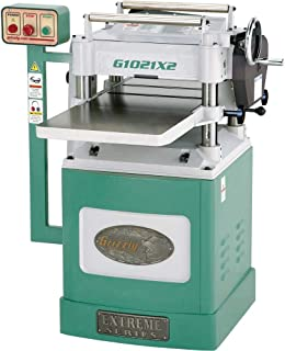 """Grizzly Industrial G1021X2-15"""" 3 HP Extreme Series Planer w/Helical Cutterhead"""