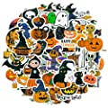 DRAGTIGER Halloween Stickers 50 pcs Pumpkin Witch Stickers, Waterproof Vinyl Stickers for Kids Gift Halloween Decorations Party Supplies