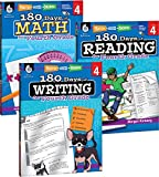 180 Days of Practice for 4th Grade (Set of 3), Assorted Fourth Grade Workbooks for Kids Ages 8-10, Includes...