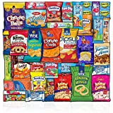 Snacks Box (36 Count) Ultimate Sampler Mixed Box, Cookies Chips Candy Care Package for Office Meetings Schools Friends & Family Military College, Easter Gifts Baskets, Snack Variety Pack
