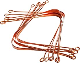 HealthAndYoga(TM) Copper Tongue Cleaners -12 Pieces
