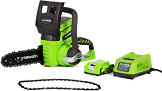 Greenworks 10-Inch 24V Cordless Chainsaw with Extra Chain, 2Ah Battery and Charger Included 20362