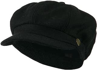 City Hunter Wool Solid Spitfire Hat - Black