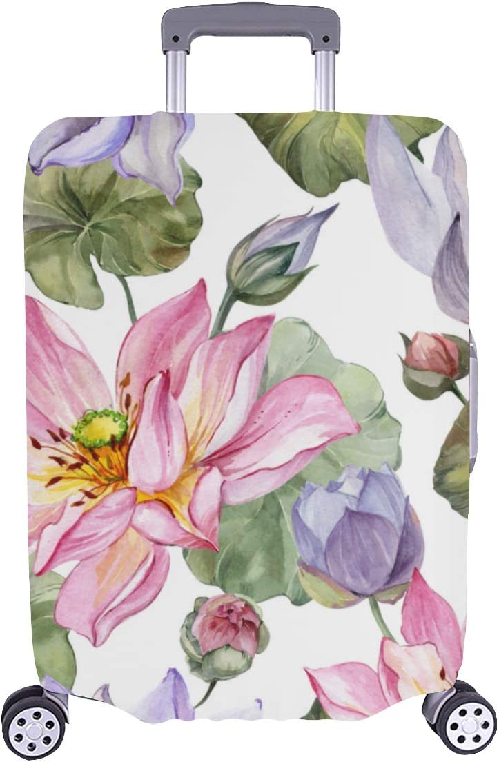 Cover Suitcase Protector Elegant Fragrant Lily Dur Flowers 5 ☆ very popular Easy-to-use Water