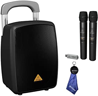 Behringer Europort MPA40BT-PRO All-in-One Portable PA System + Ultralink ULM202USB High-Performance 2.4 GHz Digital Wireless System, Includes 2 Microphones and Dual-Mode USB Receiver