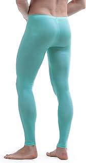 Nimiya Men's Sexy See Through Mesh Leggings Slim Fit Stretchy Tights Athletic Running Fitness Leggings Underpants