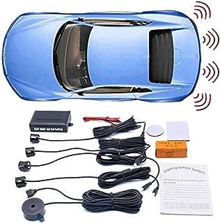 WINAUTO Car Reverse Backup Radar System with 4 Parking Sensors Premium Reversing Sensor Kit + Distance Detection+ Beeping Sound Alert