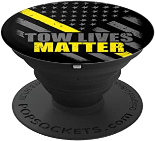 Tow Lives Matter Thin Yellow Line Flag - PopSockets Grip and Stand for Phones and Tablets