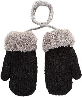 terciopelo grueso c/álidos Guantes t/érmicos para ni/ños con cord/ón antip/érdida unisex para ni/ños Minsa doble capa lana tejida invierno guantes para esqu/í al aire libre