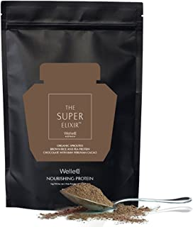 WelleCo - All Natural/Vegan Nourishing Plant Based Protein Supplement (Chocolate   300g Refill Pack)