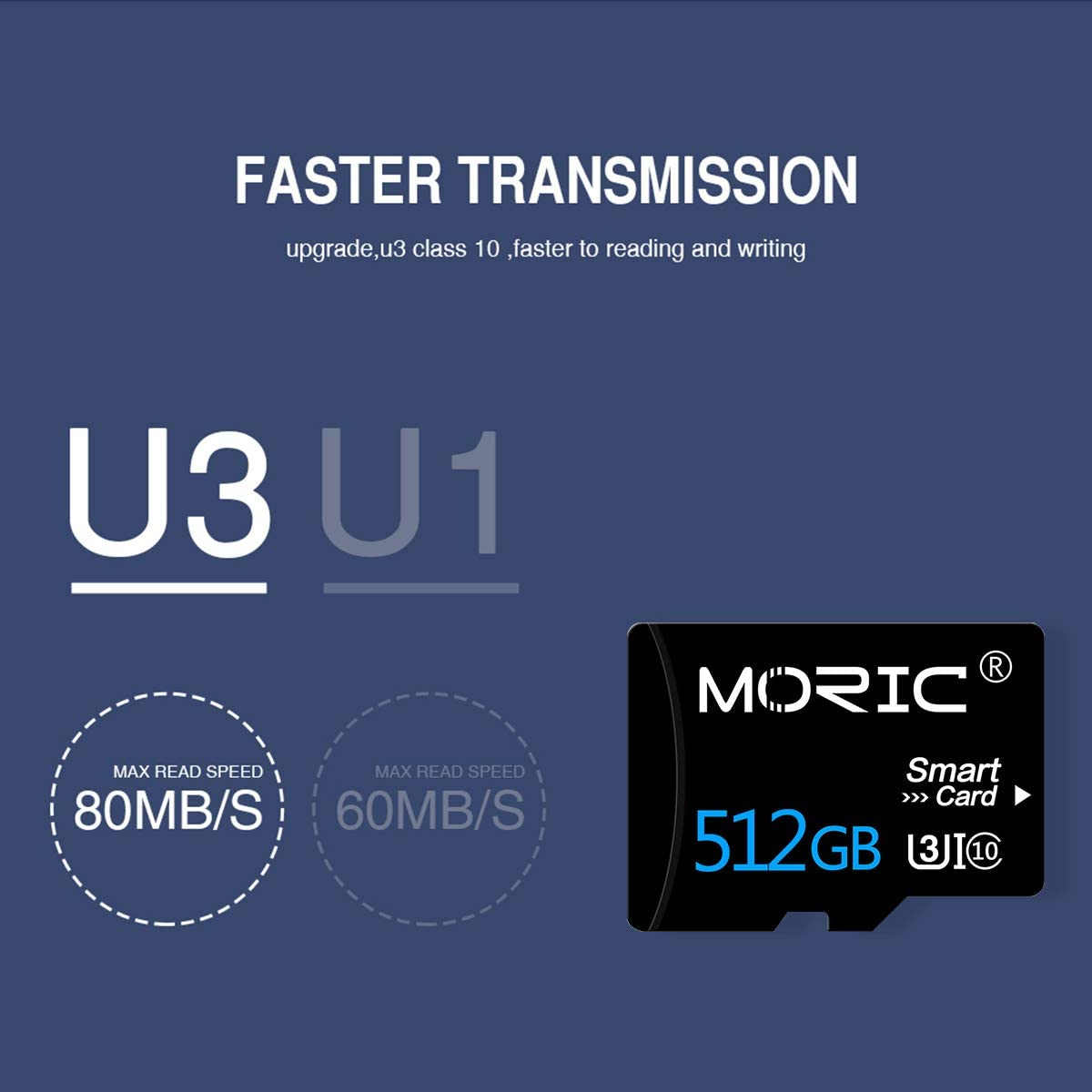 512GB Micro SD Card with Adapter High Speed Card Memory Card for Smartphone Digital Camera Tablet and Drone