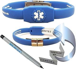 The Messenger Medical Alert Bracelet - Blue