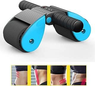 膝パッド、パーフェクト6パック&ホームジムのための腹部のトレーニング機器/Abのホイール/アブローラーとフィットネスホイール腹部ローラー,ブルー