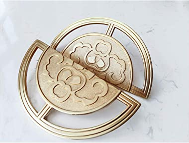 1 Pair Gold Drawer Pulls, Cabinet Door Pulls ,Drawer Handle Pulls, Cabinet Cup Pulls , New Chinese Auspicious Pattern Design,