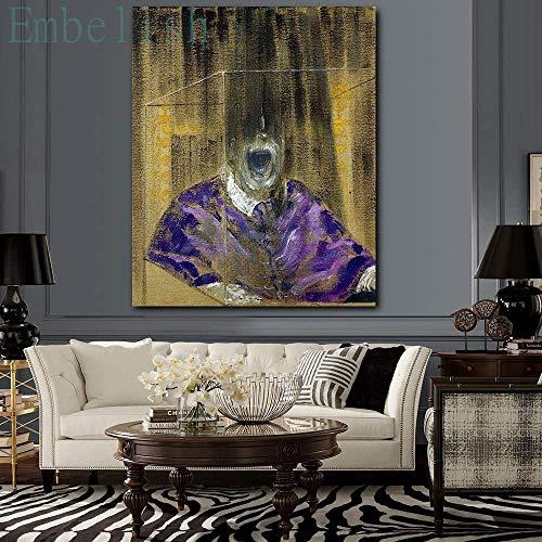 Puzzle 1000 piezas Cuadro de pintura de pared de cabeza gritando, sala de estar, hogar, lienzo HD, póster de dolor puzzle 1000 piezas adultos Juego de habilidad para toda la f50x75cm(20x30inch)