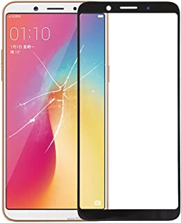 Simple Modern Life Replaceable Front Screen Outer Glass Lens for OPPO A73 (Black) (Color : Black)
