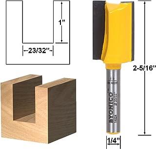 Yonico 14924q 23/32-Inch Undersized Plywood Straight Dado Router Bit 1/4-Inch Shank