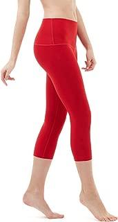 Yoga Pants 21 inches Capri High-Waist Tummy Control w Pocket