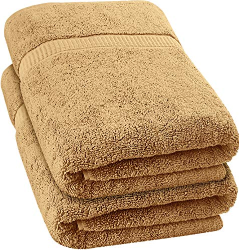 Utopia Towels - Luxurious Jumbo Bath Sheet (35 x 70 Inches, Black) - 600 GSM 100% Ring Spun Cotton Highly Absorbent and Quick Dry Extra Large Bath Towel - Super Soft Hotel Quality Towel (2-Pack)