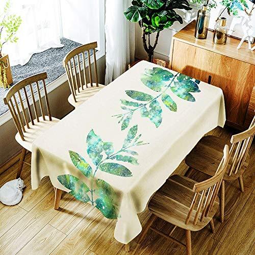 XXDD Mantel de Hoja de plátano y Cactus 3D Creativo patrón de Planta Verde cómodo Mantel Impermeable Cubierta A4 135x135cm